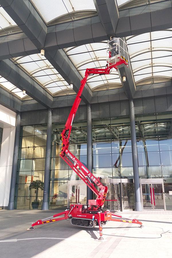 国产16米曲臂式履带蜘蛛车